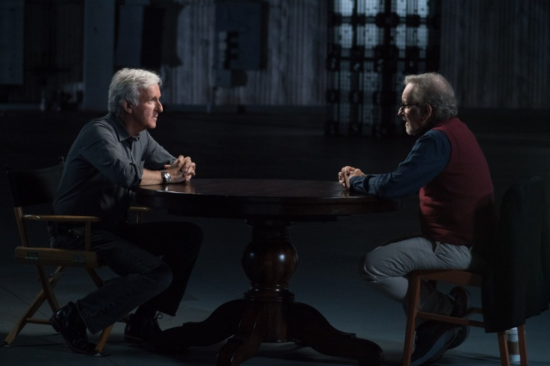 Steven Spielberg, James Cameron - Story of Science Fiction _ Season 1, Episode 1 - Photo Credit: Michael Moriatis/AMC