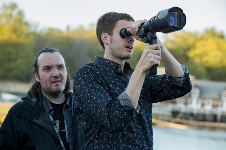Director of Photography Lyle Vincent and Director Cory Finley on the set of THOROUGHBREDS, a Focus Features release.Credit: Claire Folger / Focus Features