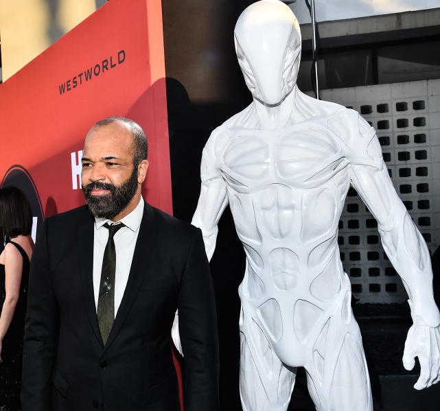 Jeffrey Wright and a drone host