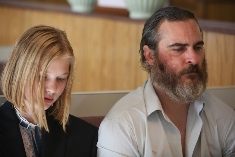 Ekaterina Samsonovand Joaquin Phoenix in Lynne Ramsay's YOU WERE NEVER REALLY HERE