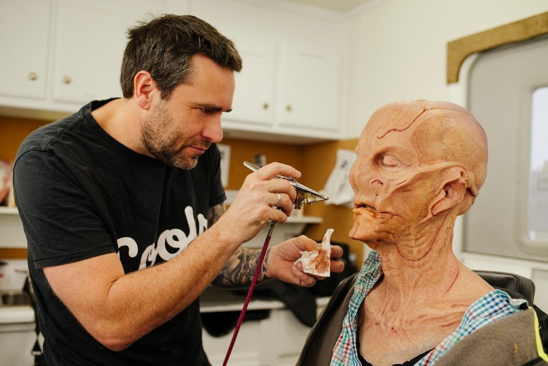 Behind-the-scenes coverage with Prosthetics Supervisor, James Mackinnon and Doug Jones of the CBS All Access series STAR TREK: DISCOVERY.Photo Cr: Jan Thijs/CBS © 2017 CBS Interactive. All Rights Reserved.