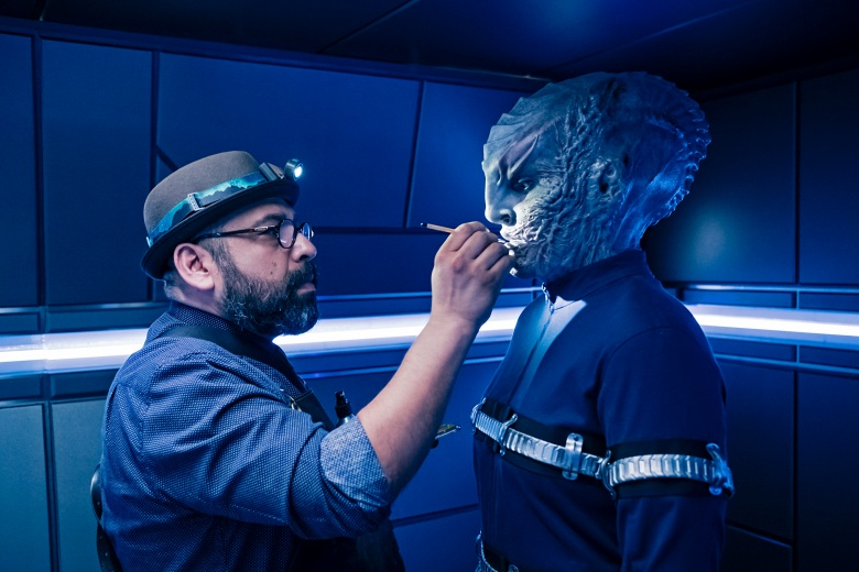 """ÒInto the Forest I Go"""" -- Episode 109 -- Pictured (l-r): Key Prosthetics, Hugo Villase–or; Mary Chieffo as LÕRell of the CBS All Access series STAR TREK: DISCOVERY. Photo Cr: Jan Thijs/CBS © 2017 CBS Interactive. All Rights Reserved."""