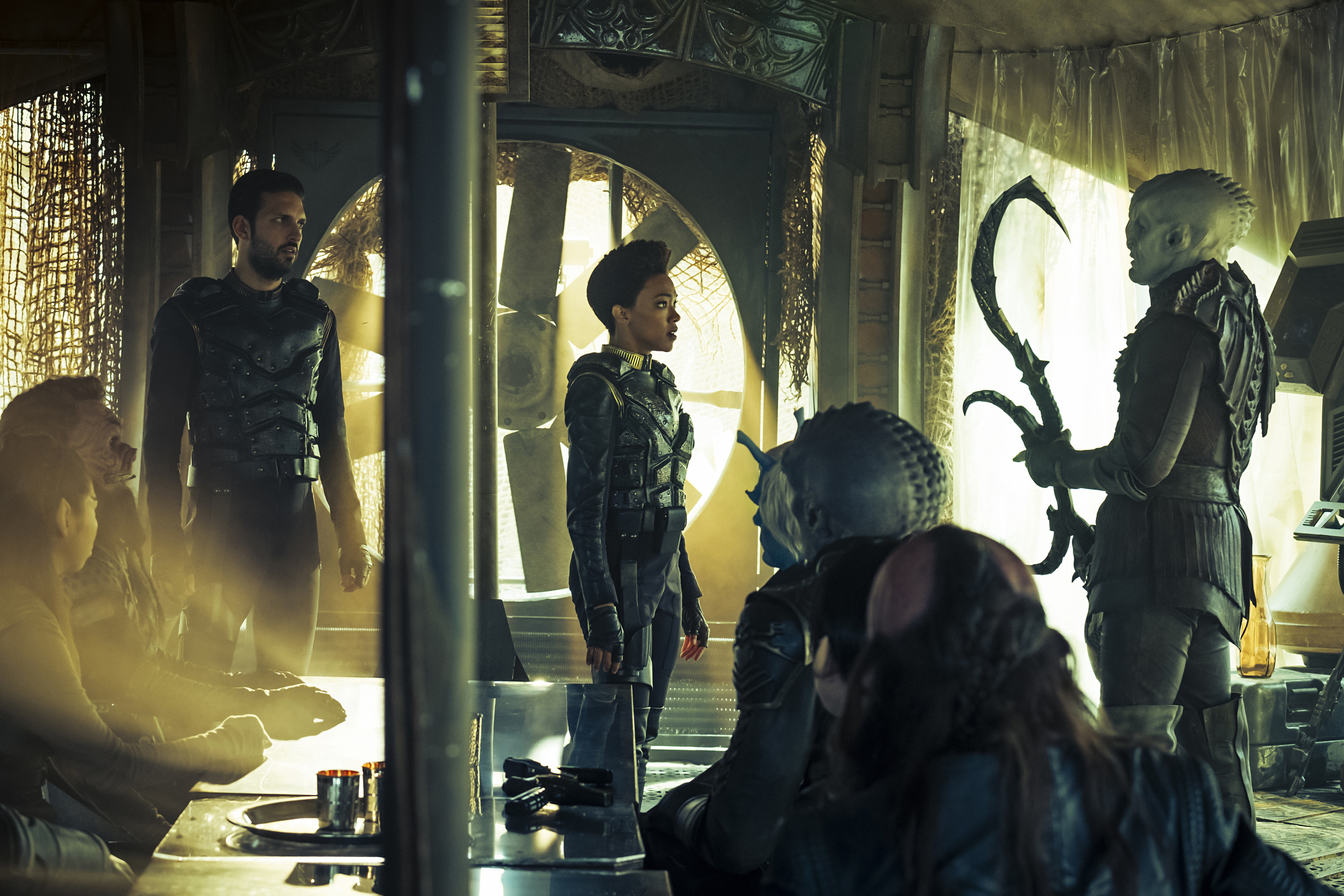 """The Wolf Inside""-- Episode 111 -- Coverage of the CBS All Access series STAR TREK: DISCOVERY. Photo Cr: Jan Thijs/CBS © 2017 CBS Interactive. All Rights Reserved."