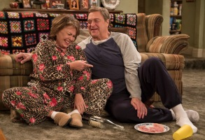 "ROSEANNE - ""Netflix & Pill"" - After celebrating their 45th anniversary, Roseanne reveals to Dan a bigger problem with her bad knee. Meanwhile, Crystal announces her retirement as a waitress at the casino, and Becky and Darlene compete for the job which has full-time benefits, on the eighth episode of the revival of ""Roseanne,"" TUESDAY, MAY 15 (8:00-8:30 p.m. EDT), on The ABC Television Network. (ABC/Adam Rose)ROSEANNE BARR, JOHN GOODMAN"