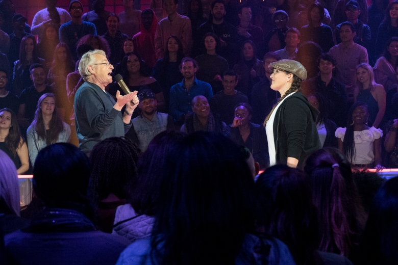 Ricki Lake vs Jerry Springer - Drop The Mic - Hosts: Method Man & Hailey Baldwin. Photo Cr: Kelsey McNeal/CBS © 2017 CBS Television Studios. All Rights Reserved.