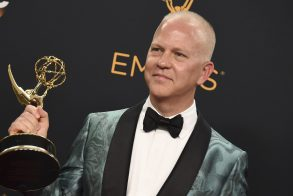 "Ryan Murphy winner of the award for outstanding limited series for The People v. O.J. Simpson: American Crime Story"" poses in the press room at the 68th Primetime Emmy Awards, at the Microsoft Theater in Los Angeles2016 Primetime Emmy Awards - Press Room, Los Angeles, USA"