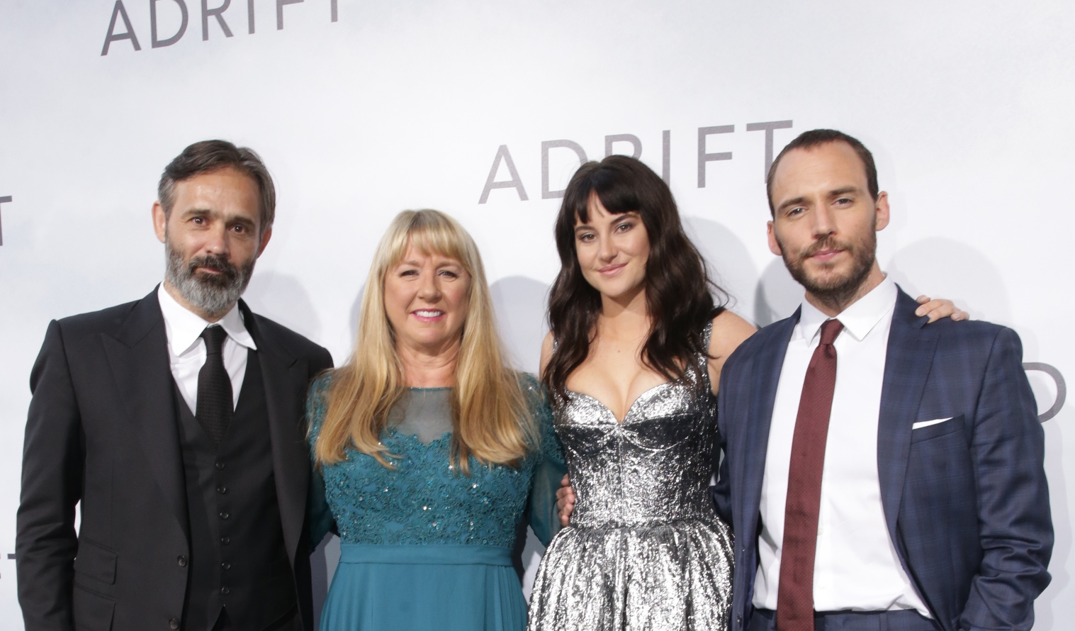 Director Baltasar Kormákur, Tami Oldham Ashcraft, Shailene Woodley, and Sam Claflin attend the World Premiere of ADRIFT at L.A. Live Regal Cinemas in Los Angeles, Calif., Wednesday, May 23, 2018. Photo: Steve Cohn for STXfilms