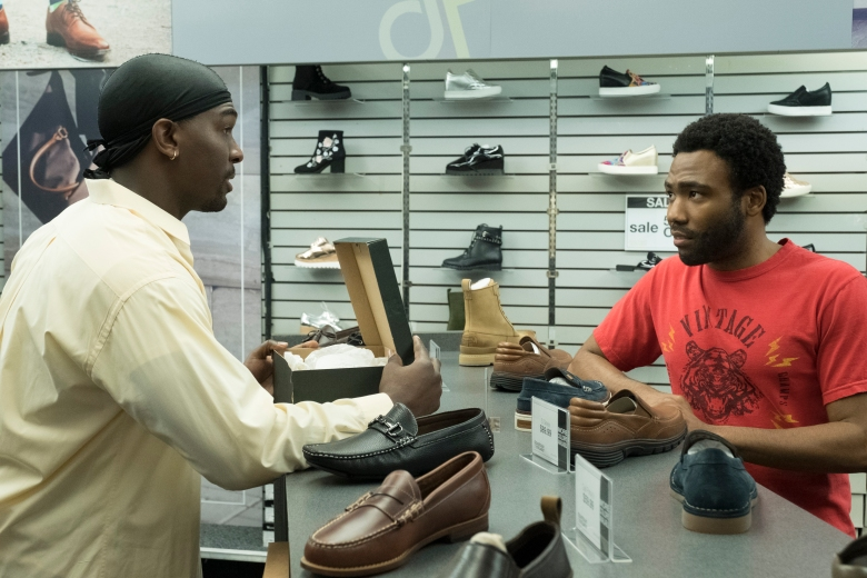 "ATLANTA Robbin' Season -- ""Sportin' Waves"" -- Season Two, Episode 2 (Airs Thursday, March 8, 10:00 p.m. e/p) Pictured (l-r): Khris Davis as Tracy, Donald Glover as Earnest Marks. CR: Guy D'Alema/FX"