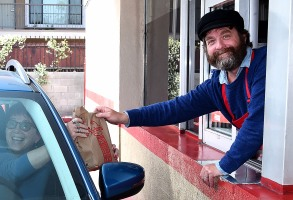 """Zach Galifianakis at FX """"Baskets"""" FYC event at Arby's in Hollywood"""