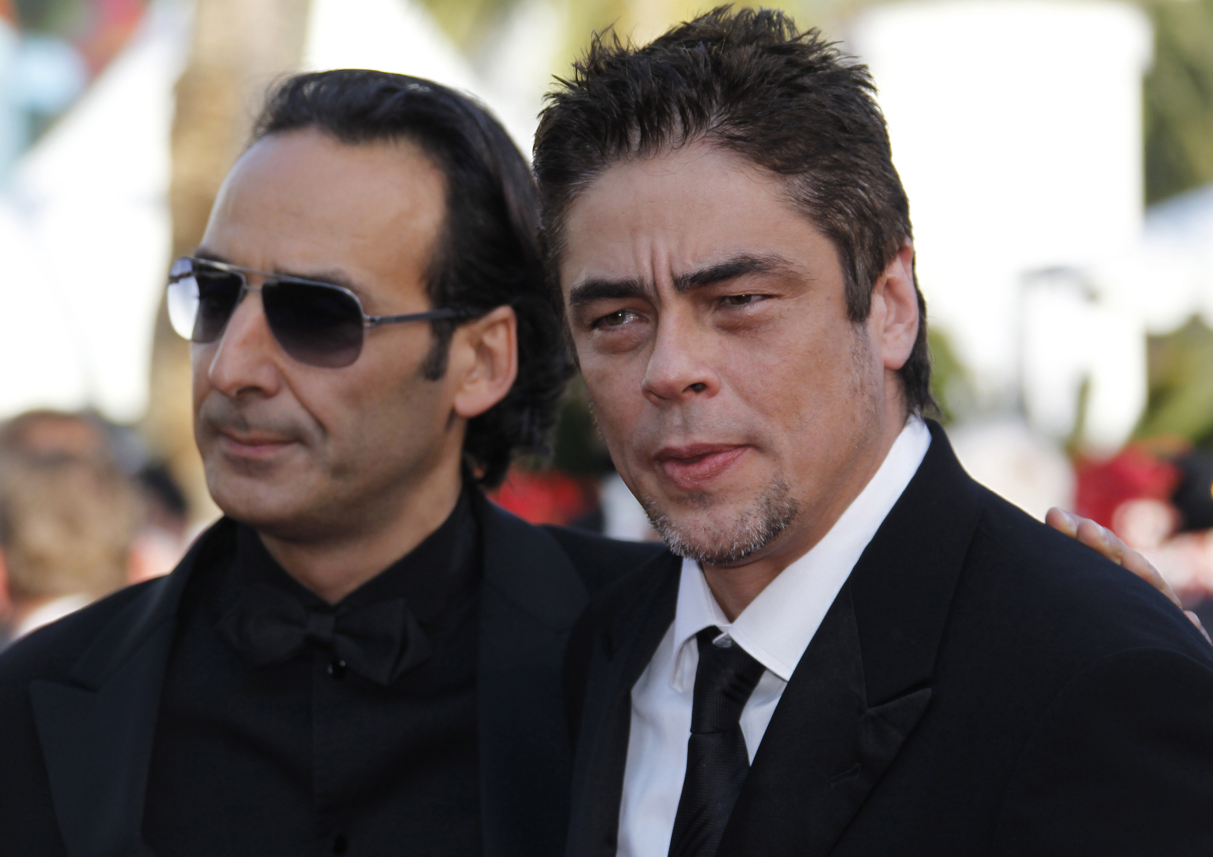 Jury Members Puerto Rican Actor Benicio Del Toro (r) and French Composer Alexandre Desplat (l) Arrive For the Screening of the Movie 'Biutiful' During the 63rd Cannes Film Festival in Cannes France 17 May 2010 the Movie by Alejandro Gonzalez Inarritu is Presented in Competition at the Cannes Film Festival 2010 Running From 12 to 23 May France CannesFrance Cannes Film Festival 2010 - May 2010