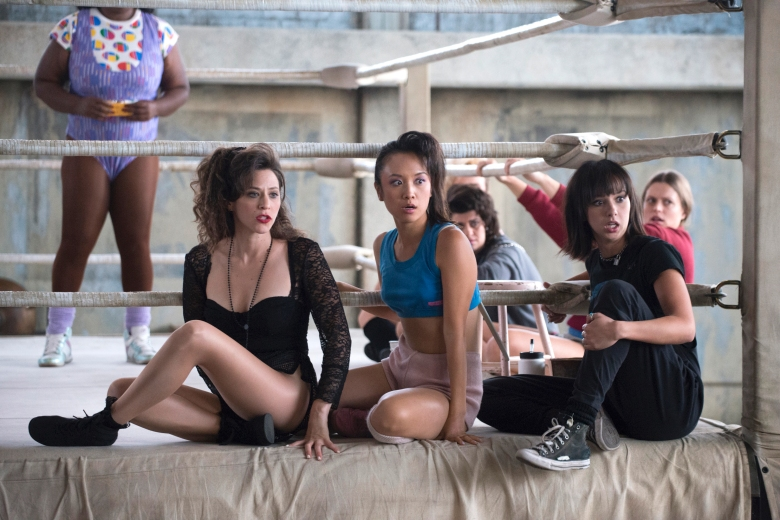 "Jackie Tohn, Ellen Wong, and Britt Baron, ""GLOW"""