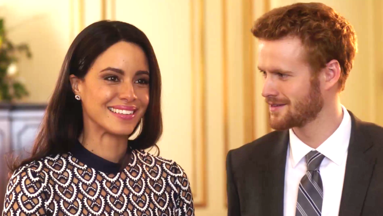 "Parisa Fitz-Henley and Murray Fraser, ""Harry & Meghan: A Royal Romance"""