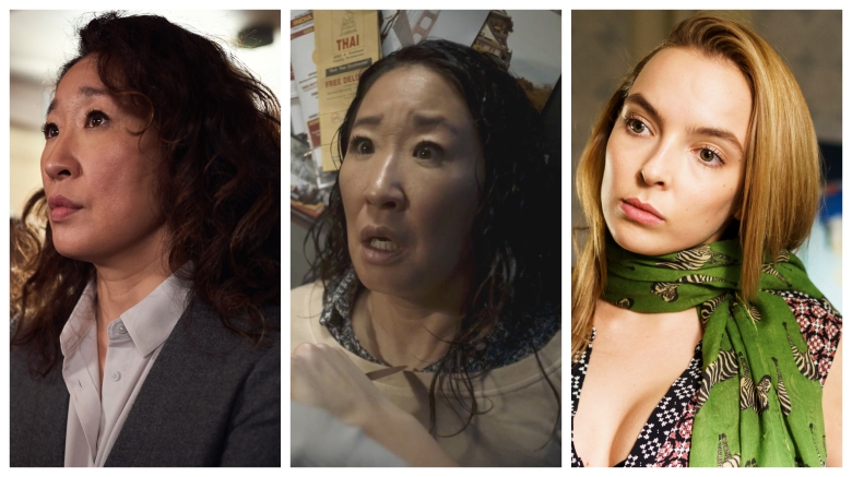 """Sandra Oh and Jodie Comer, """"Killing Eve"""""""