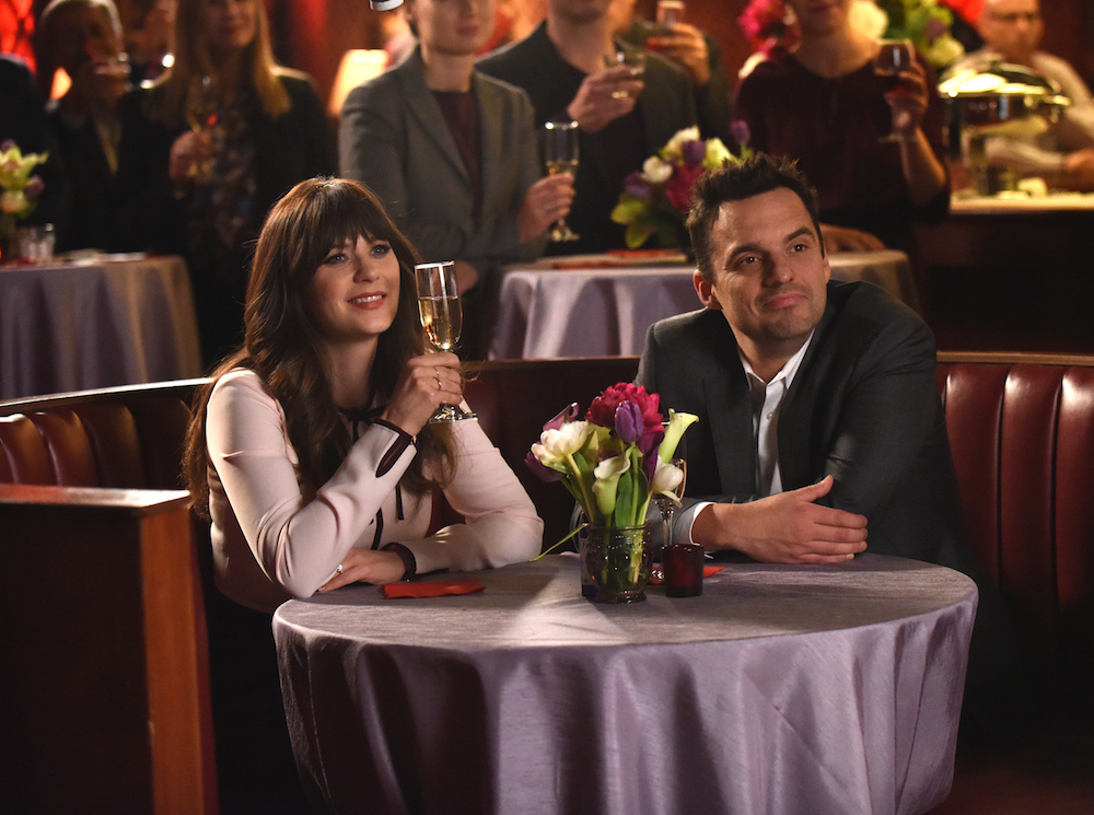 "NEW GIRL: L-R: Zooey Deschanel and Jake Johnson in ""The Curse of the Pirate Bride,"" the essential portion of the actual one-hour series finale episode of NEW GIRL airing Tuesday, May perchance perhaps presumably also 15 (9:00-9:30 PM ET/PT) on FOX. ©2018 Fox Broadcasting Co. Cr: Ray Mickshaw/FOX"