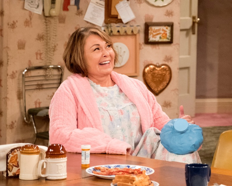 """ROSEANNE - """"Netflix & Pill"""" - After celebrating their 45th anniversary, Roseanne reveals to Dan a bigger problem with her bad knee. Meanwhile, Crystal announces her retirement as a waitress at the casino, and Becky and Darlene compete for the job which has full-time benefits, on the eighth episode of the revival of """"Roseanne,"""" TUESDAY, MAY 15 (8:00-8:30 p.m. EDT), on The ABC Television Network. (ABC/Adam Rose)ROSEANNE BARR"""