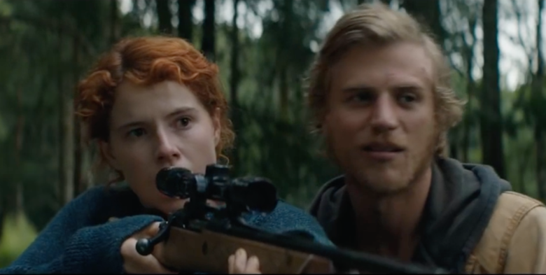 "Jessie Buckley and Johnny Flynn in ""Beast"""