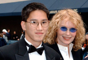 Moses Farrow and Mia Farrow