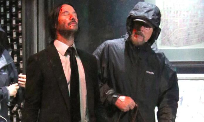 'John Wick 3': Keanu Reeves Behind