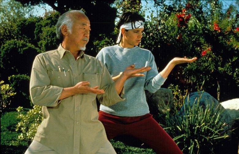 "Pat Morita and Ralph Macchio, ""The Karate Kid Part III"""