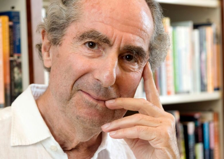 "Philip Roth Author Philip Roth poses for a photo in the offices of his publisher Houghton Mifflin, in New York. Annotated copies of his novels ""Portnoy's Complaint"" and ""American Pastoral"" brought in more than $130,000 Tuesday night Dec. 2, 2014 at a PEN American Center benefit auction hosted by Christie'sBooks PEN Auction, New York, USA"