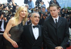 "DICAPRIO DIAZ SCORSESE American actor Leonardo DiCaprio, right, American director Martin Scorsese, center, and American actress Cameron Diaz, left, pose as they arrive for the screening of their film ""Gangs of New York"" at the Cannes Film Festival in Cannes, FranceCANNES GANGS OF NEW YORK, CANNES, France"
