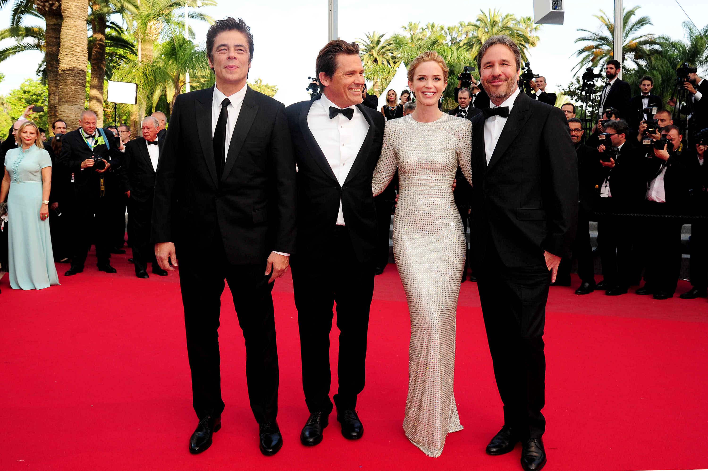 'Sicario' Red Carpet at the Palais Des Festivals During the 68th Cannes Film Festival Benicio Del Toro Josh Brolin Emily Blunt and Director Denis Villeneuve'The Lobster' Photocall - 19 May 2015