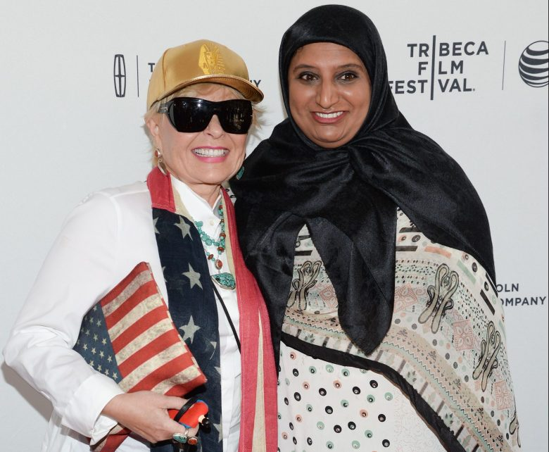 "Actress Roseanne Barr, left, and her campaign manager Farheen Hakeen attend the Tribeca Film Festival world premiere of ""Roseanne For President!"" at the SVA Theatre, in New York2015 Tribeca Film Festival - ""Roseanne For President!"" Premiere, New York, USA"