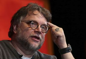 """Mexican film director Guillermo del Toro speaks during a masterclass on his Oscar-winning film """"The Shape of Water,"""" at the Guadalajara International Film Festival in Guadalajara, Mexico, . Del Toro last week took home Best Picture and Best Director Oscars for the 2017 filmGuillermo Del Toro, Guadalajara, Mexico - 10 Mar 2018"""