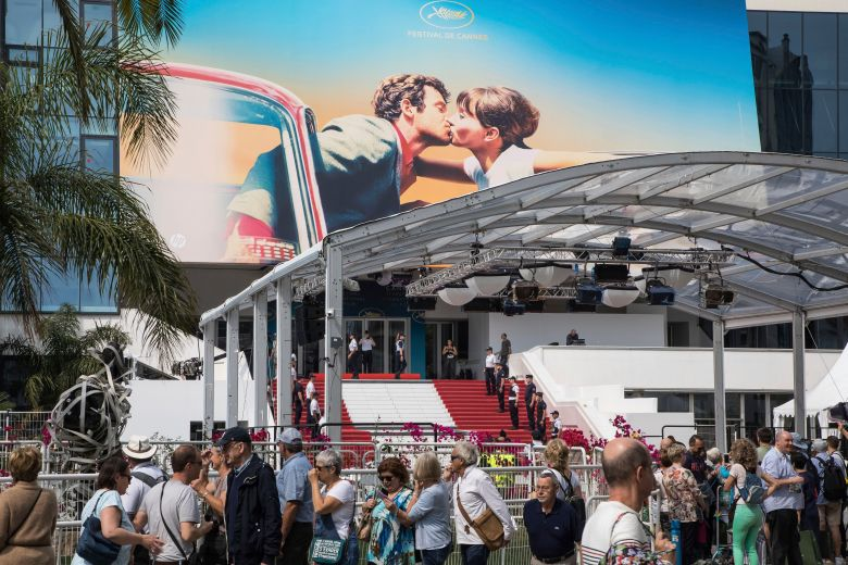 A view of the Palais des Festivals at the 71st international film festival, Cannes, southern France2018, Cannes, France - 07 May 2018
