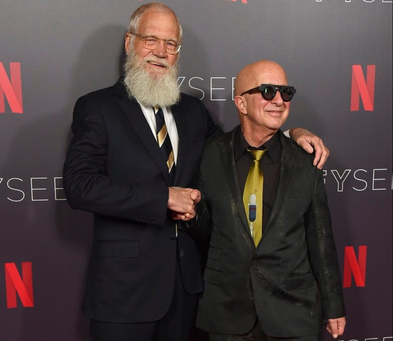 "David Letterman, Paul Shaffer. David Letterman, left, and Paul Shaffer arrive at the ""My Next Guest Needs No Introduction with David Letterman"" FYC event on in Los Angeles""My Next Guest Needs No Introduction with David Letterman"" FYC Event, Los Angeles, USA - 07 May 2018"