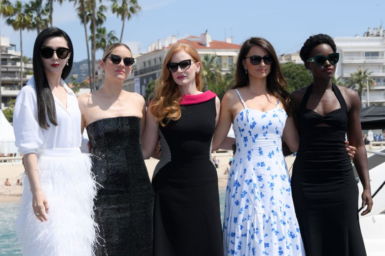 Fan Bingbing, Marion Cotillard, Jessica Chastain, Penelope Cruz and Lupita Nyong'o'355' photocall, 71st Cannes Film Festival, France - 10 May 2018