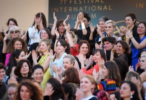 Actresses take part in the #MeToo #TimesUp Movement'Girls of the Sun' premiere, 71st Cannes Film Festival, France - 12 May 2018