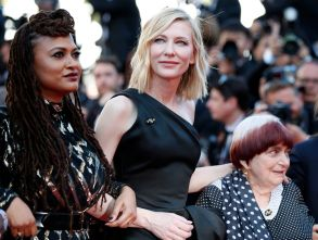 Cate Blanchett (C), Ava Ava DuVernay and Agnes Varda (R) walk the red carpet in protest of the lack of female filmmakers honored throughout the history of the festival at the screening of 'Girls of the Sun (Les Filles du Soleil)' during the 71st annual Cannes Film Festival, in Cannes, France, 12 May 2018. The movie is presented in the Official Competition of the festival which runs from 08 to 19 May.Girls of the Sun Premiere - 71st Cannes Film Festival, France - 12 May 2018
