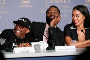 Director Spike Lee, US actor John David Washington and US actress Laura Harrier attend the press conference for 'BlacKkKlansman' during the 71st annual Cannes Film Festival, in Cannes, France, 15 May 2018. The movie is presented in the Official Competition of the festival which runs from 08 to 19 May.BlacKkKlansman Press Conference - 71st Cannes Film Festival, France - 15 May 2018