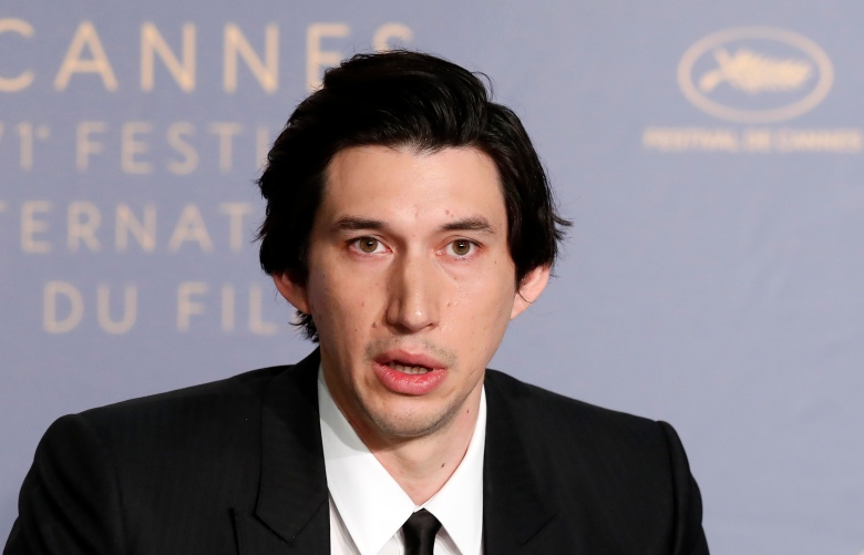 US actor Adam Driver attends the press conference for 'BlacKkKlansman' during the 71st annual Cannes Film Festival, in Cannes, France, 15 May 2018. The movie is presented in the Official Competition of the festival which runs from 08 to 19 May.BlacKkKlansman Press Conference - 71st Cannes Film Festival, France - 15 May 2018