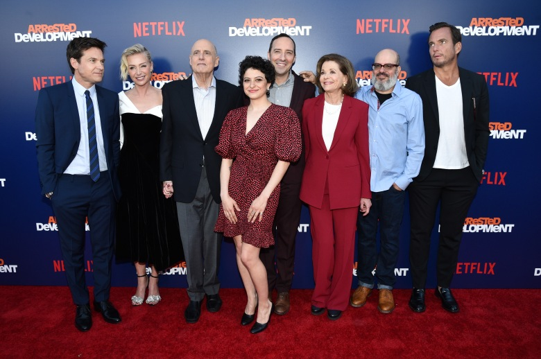 Jason Bateman, Portia de Rossi, Jeffrey Tambor, Alia Shawkat, Tony Hale, Jessica Walter and Will Arnett'Arrested Development' TV show premiere, Arrivals, Los Angeles, USA - 17 May 2018'Arrested Development' Season 5 Premiere
