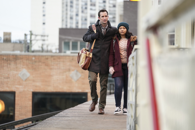 From acclaimed producers Ava DuVernay and Greg Berlanti, THE RED LINE follows the lives of three vastly different Chicago families whose stories of loss and tragedy intersect in the wake of the mistaken shooting of an African American doctor by a white cop. THE RED LINE will premiere on the CBS Television Network during the 2018-19 season. Pictured: Noah Wyle and Aliyah Royale Photo: Elizabeth Morris/CBS ©2018 CBS Broadcasting, Inc. All Rights Reserved