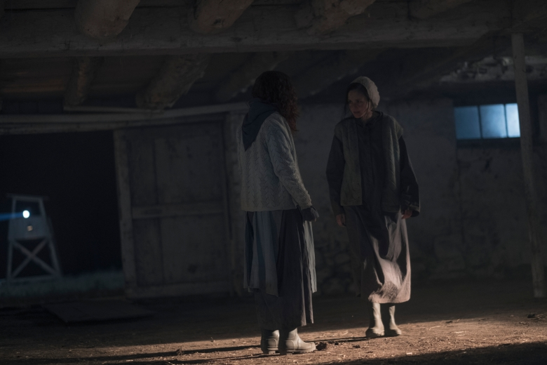 "THE HANDMAID'S TALE -- ""Seeds"" -- Episode 205 -- Offred spirals as a Gilead ceremony disrupts her relationship with Nick. Janine tries to adjust to life in the Colonies, jeopardizing her friendship with Emily. Ofglen (Alexis Bledel), shown. (Photo by: George Kraychyk/Hulu)"