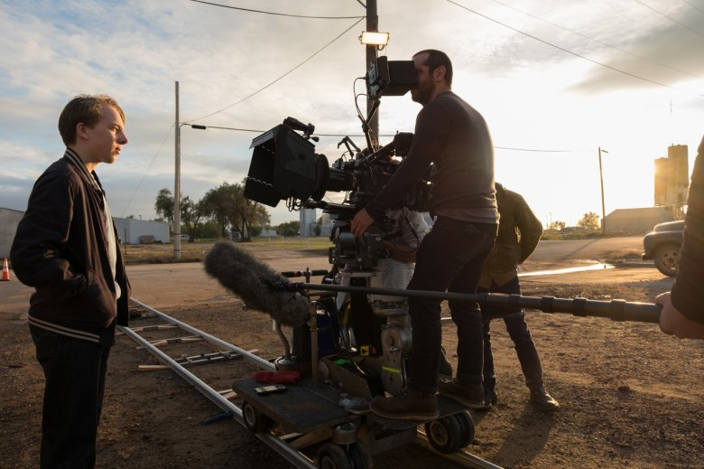 "On the set of ""Wildlife"""