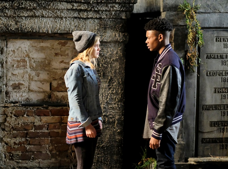 "MARVEL'S CLOAK & DAGGER - ""First Light"" - ÒMarvelÕs Cloak & DaggerÓ is the story of Tandy Bowen and Tyrone JohnsonÐ two teenagers from very different backgrounds, who find themselves burdened and awakened to newly acquired superpowers which are mysteriously linked to one another. The only constant in their lives is danger and each other. Tandy can emit light daggers and Tyrone has the ability to control the power of darkness. They quickly learn they are better together than apart. The series premieres on Thursday, June 7th with a two-hour premiere starting at 8 PM ET/PT. (Freeform/Alfonso Bresciani) OLIVIA HOLT, AUBREY JOSEPH"