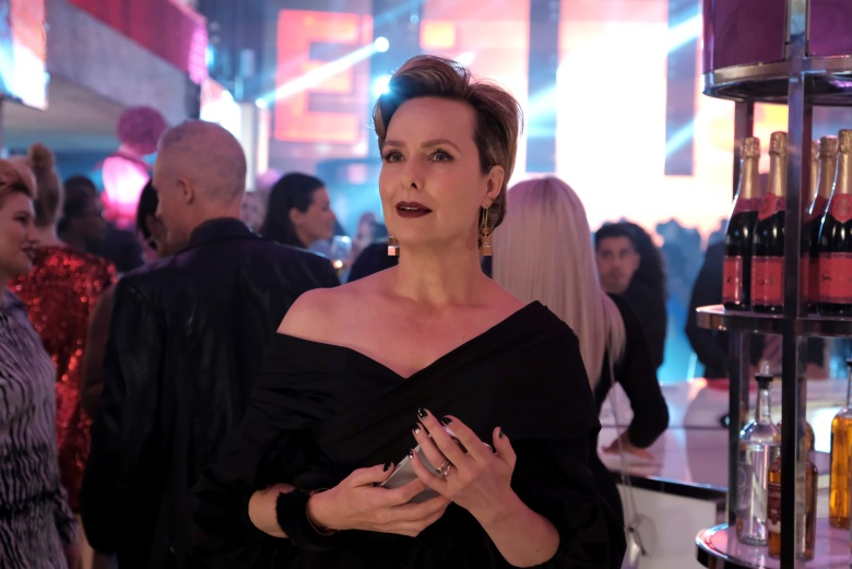 """THE BOLD TYPE - """"Carry The Weight"""" - Jane gets an eye opening experience when she is tasked with writing a piece about a performance artist/activist who is speaking out about sexual assault. Kat is distracted by thoughts of Adena while trying to throw a memorable NY Fashion Week party for Scarlet. And Sutton gets into an awkward situation with Richard. This episode of """"The Bold Type"""" airs Tuesday, September 5 (9:01 - 10:02 p.m. EDT) on Freeform. (Freeform/Phillippe Bosse)MELORA HARDIN"""