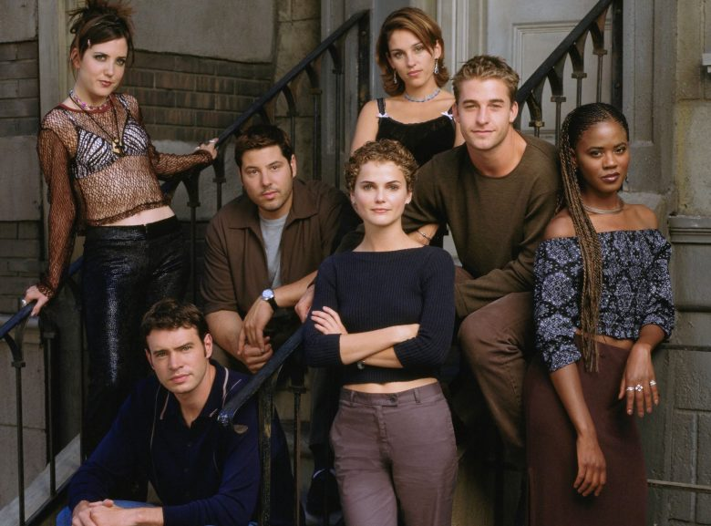 No Merchandising. Editorial Use Only. No Book Cover Usage.Mandatory Credit: Photo by Imagine TV/Touchstone TV/Kobal/REX/Shutterstock (5880594k)Amanda Foreman, Greg Grunberg, Amy Jo Johnson, Scott Speedman, Tangi Miller, Keri Russell, Scott FoleyFelicity - 1998-2002Imagine TV/Touchstone TVUSATV Portrait