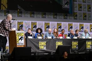 Kristian Nairn, Isaac Hempstead Wright, John Bradley, Nathalie Emmanuel, Liam Cunningham, Sophie Turner, Jacob Anderson, Conleth Hill, Alfie Allen and Gwendoline Christie'Game of Thrones' TV show panel, Comic-Con International, San Diego, USA - 21 Jul 2017