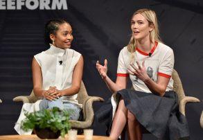Karlie Kloss and Yara ShahidiFreeform Summit, Panel, Los Angeles, USA - 18 Jan 2018