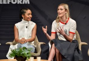 Karlie Kloss and Yara ShahidiFreeform Summit, Panel, Los Angeles, USA - 18 Jan 2018