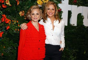 "LOS ANGELES, CA - MAY 22:  Actors Amy Sedaris (L) and Andrea Savage attend the FYC Event for truTV's ""At Home with Amy Sedaris"" & ""I'm Sorry"" at NeueHouse Hollywood on May 22, 2018 in Los Angeles, California. 361838.  (Photo by Rachel Murray/Getty Images for truTV)"