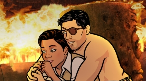 "ARCHER: Danger Island -- ""A Discovery""  -- Season 9, Episode 8 (Airs Wednesday, June 13, 10:00 p.m. e/p) Pictured (l-r): Princess Lanaluakalani (voice of Aisha Tyler), Sterling Archer (voice of H. Jon Benjamin). CR: FXX"