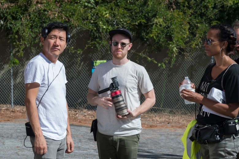 "ATLANTA Robbin' Season -- ""Alligator Man"" -- Season Two, Episode 1 (Airs Thursday, March 1, 10:00 p.m. e/p) Pictured (L-R): Producer/director Hiro Murai, Director of photography Christian Sprenger. CR: Guy D'Alema/FX"