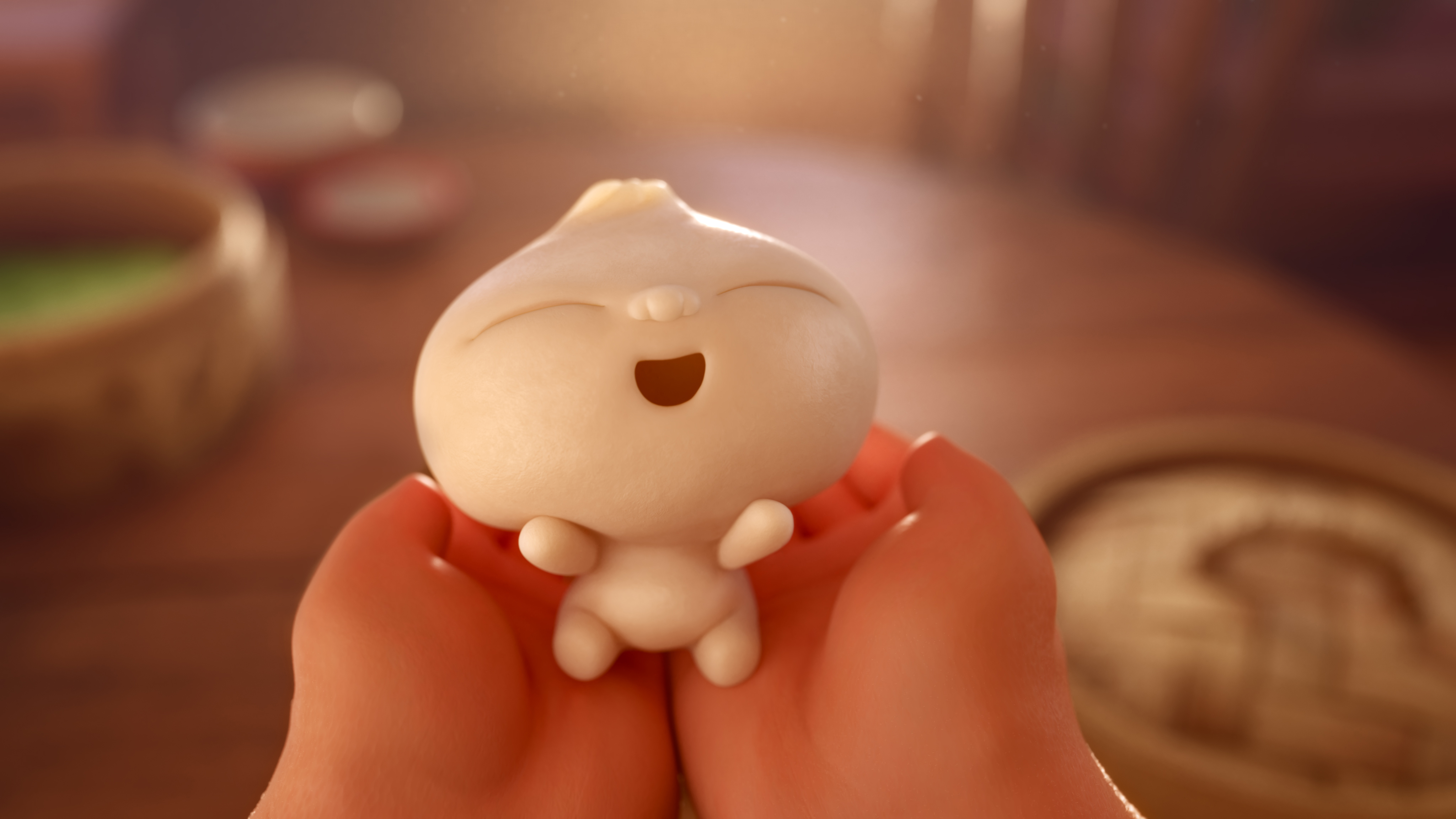 """DUMPLING BOY -- In Disney•Pixar's all-new short """"Bao,"""" a dumpling springs to life as a lively, giggly, dumpling boy, giving an agingChinese mom another chance at motherhood.When Dumpling starts growing up fast, however, Mom must come to the realization that nothing stays cute and small forever.Directed by Domee Shi, """"Bao"""" opens in theaters onJune 15, 2018, in front of""""Incredibles 2."""" ©2018 Disney•Pixar. All Rights Reserved."""