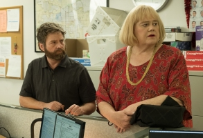 "BASKETS -- ""Basque-ets"" --Season 3, Episode 9 (Airs Tuesday, March 20, 10:00 pm/ep) -- Pictured: (l-r) Zach Galifianakis as Chip Baskets, Louie Anderson as Christine Baskets. CR: Colleen Hayes/FX"